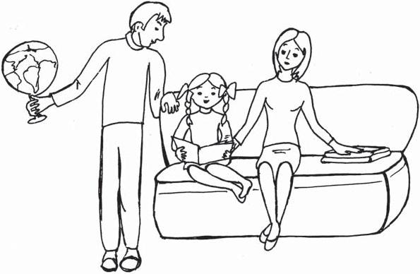 Раскраски для детей мама папа и я